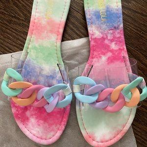 🆕 Miss Lola Tie Dye Sandals